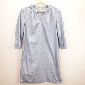 Hanna Anderson blue & white cotton midi dress